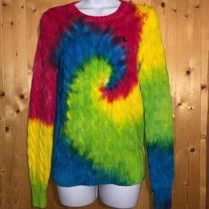 Polo Ralph Lauren tie dye knit sweater *LIKE NEW*